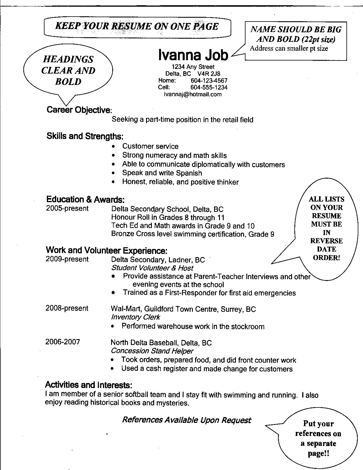 sample resume for high school students applying for scholarships - section 4 where am i going section 5 how am i going